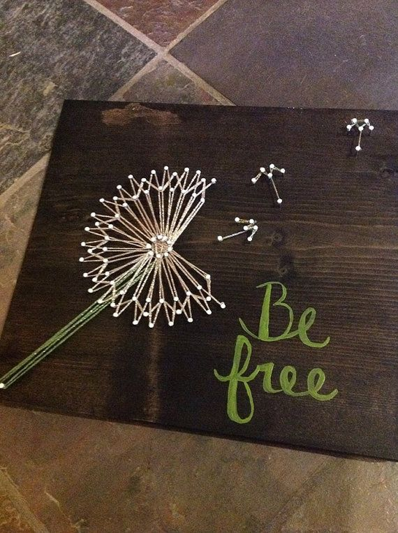 Be Free Danelion String Art by GrizzlyandCo on Etsy, $25.00
