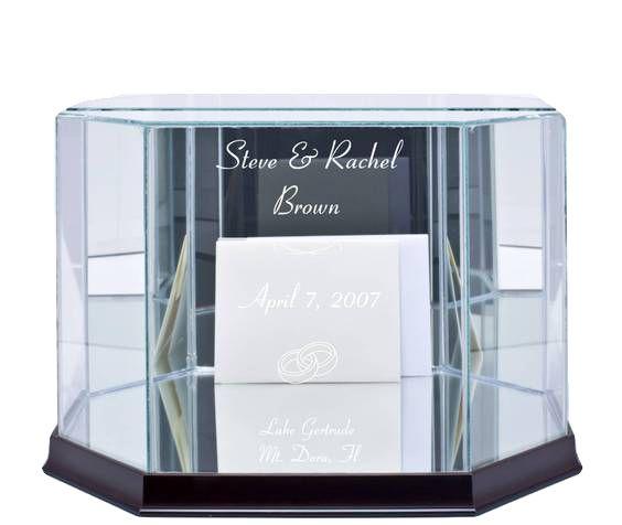Website: www.WeddingsAreFun.com  Glass Wedding Card Box - Octagon Shape