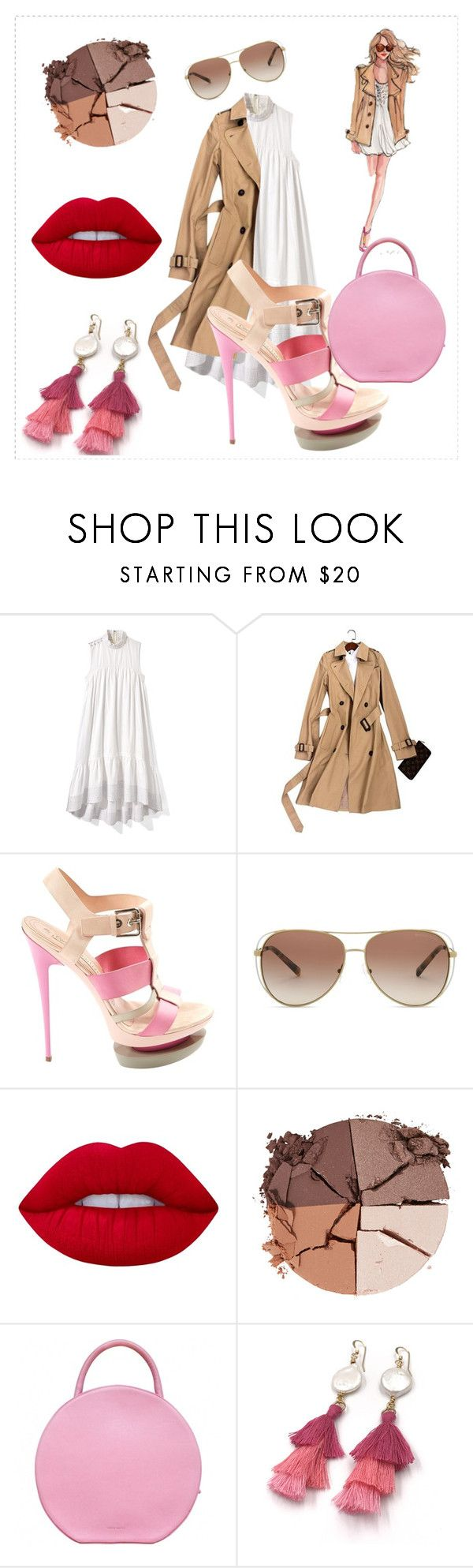 """""""Beige Trench"""" by andrealorena-7879 ❤ liked on Polyvore featuring 3.1 Phillip Lim, Gianmarco Lorenzi, Michael Kors, Lime Crime, lilah b. and Mansur Gavriel"""