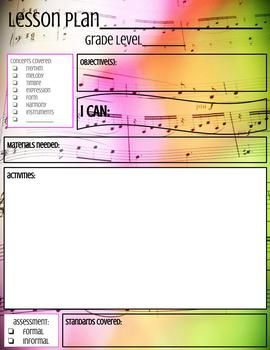 The Best Music Lesson Plans Ideas On Pinterest Music Games - Music lesson plan template