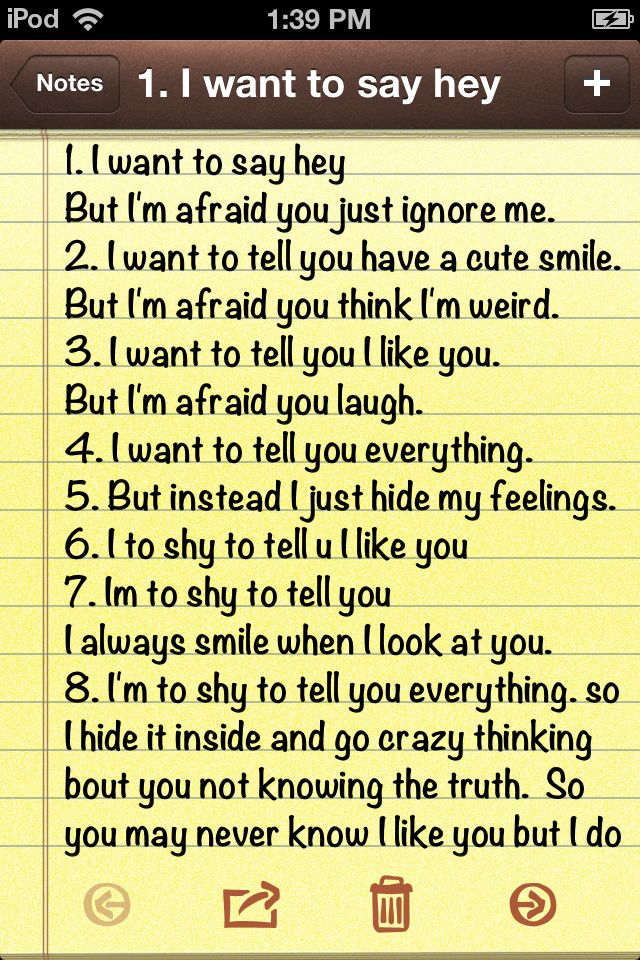 To afraid and too shy to tell you these things crush quotes I wrote this myself ~ Robert