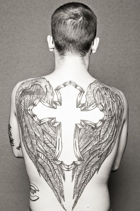 daniel smyth photography | chad's wings & cross #tattoo #ink #men