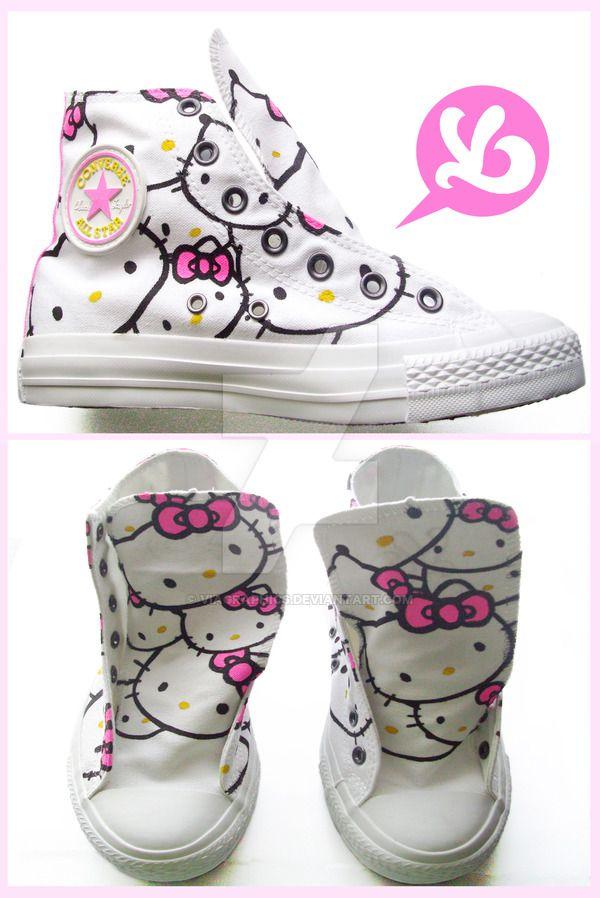 Hello Kitty Converse by Viagraphics.deviantart.com on @DeviantArt