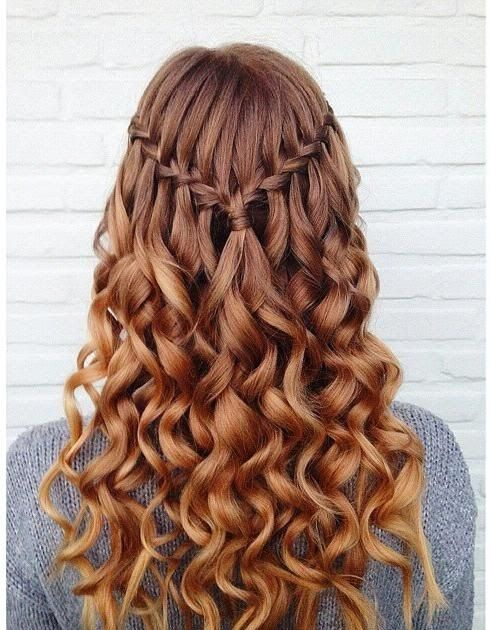 Simple Waterfall Braid & Curls (Hair and Beauty Tutorials) Simple Waterfall Braid & Curls (Hair and Beauty Tutorials) Waterfall braid with...
