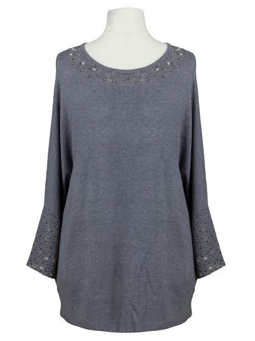 Damen Pullover Strass, grau von C.M.P. 55 bei www.meinkleidchen.de