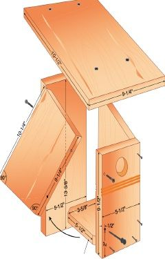 Bluebird house | Birds Blooms.You can build this easily from the great instructions given, simply go and choose from over 16,000 plans at http://www.vickswoodworkingplans.com/