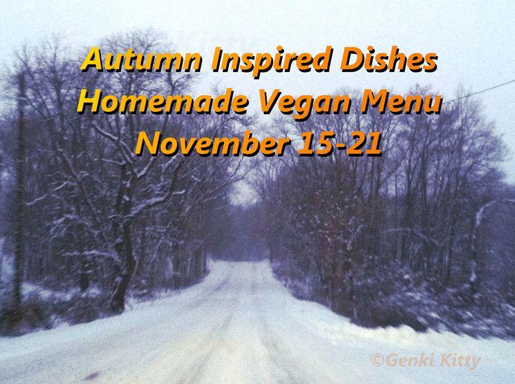 Vegan Menu and Recipe November