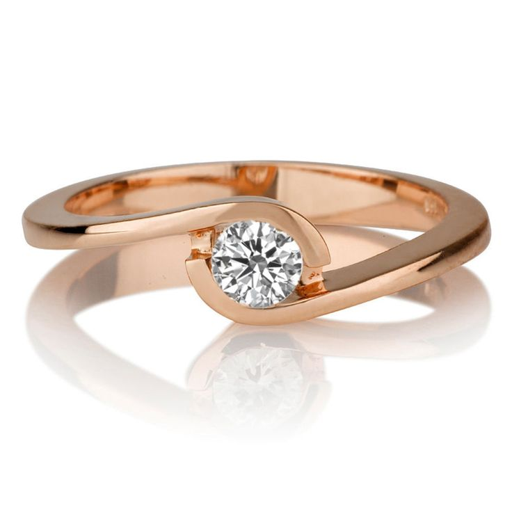 Diamant Ring Solitär 0.25 Karat (VS2/F) in 750er Rosegold