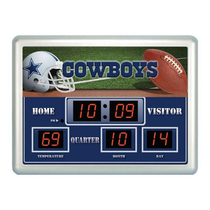 "Dallas Cowboys Clock - 14""x19"" Scoreboard"