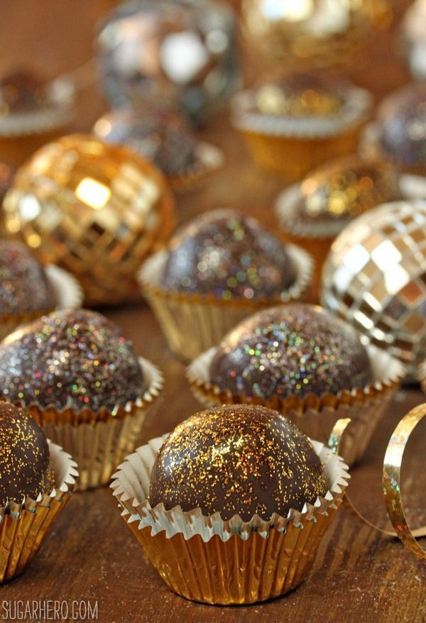 Disco Truffles – These super fun chocolaty treats will definitely light up your New Year's party!