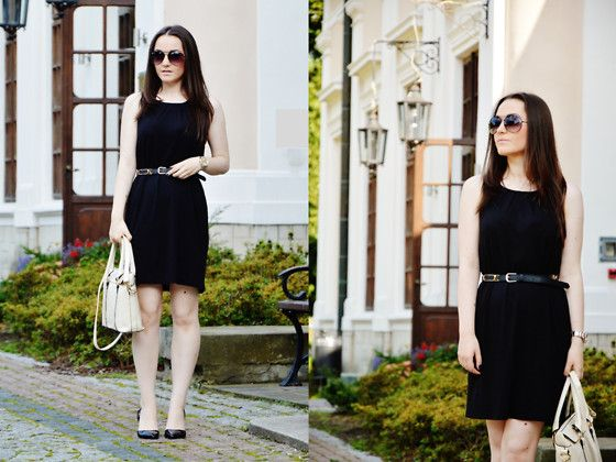 Get this look: http://lb.nu/look/6474292  More looks by Malwina Lach: http://lb.nu/user/2330115-Malwina-L  Items in this look:  Sinsay Sunglasses, Mango Dress, Mango Belt, Claire's Watch, Sammy Dress Bag, Stradivarius Shoes   #modnesisterki #summer #simple #black