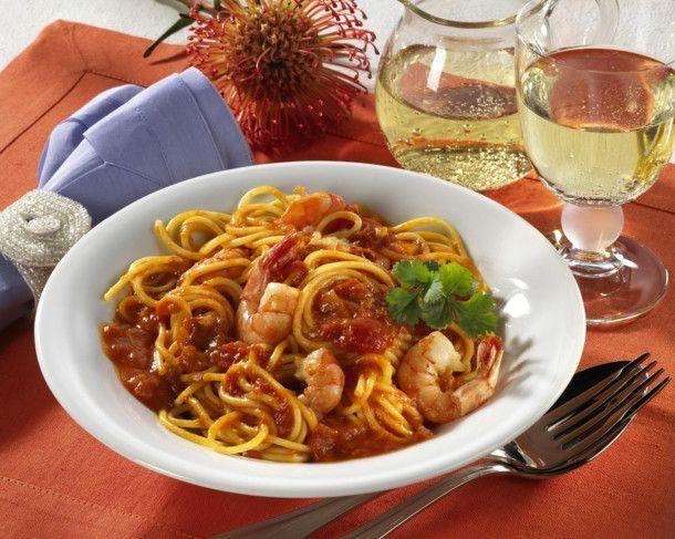 Spaghetti mit Scampi Rezept | LECKER