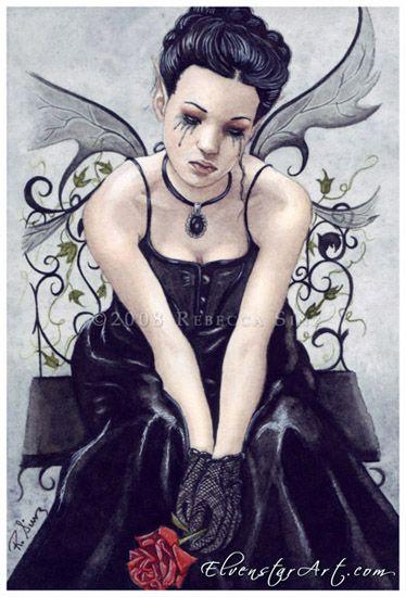 Goth: Fantasy, Rebecca Sinz, Gothic Victorian, Fallen Angel, Gothic Art, Gothic Fairies, Fairies Postcards, Dark Angel, Gothic Lamentations