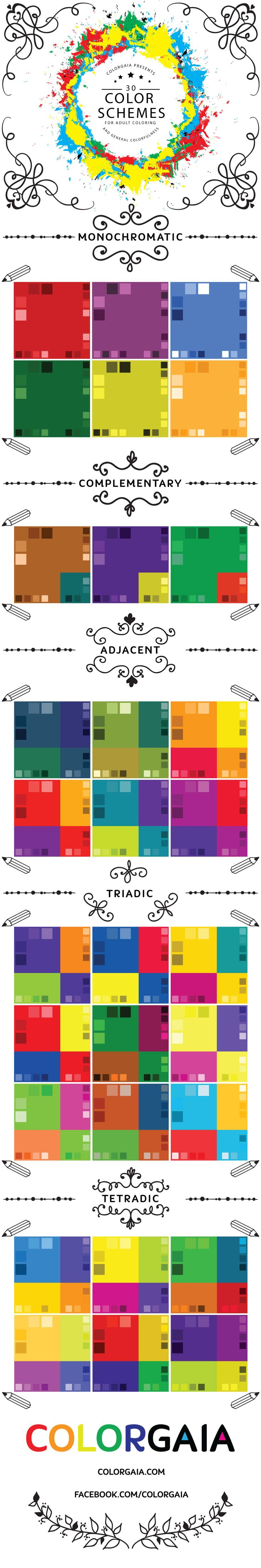 Examples Of Color Schemes 79 best color info images on pinterest | color schemes, coloring