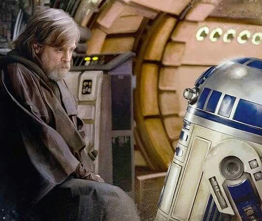Star Wars The Last Jedi - Master Luke Skywalker and R2-D2