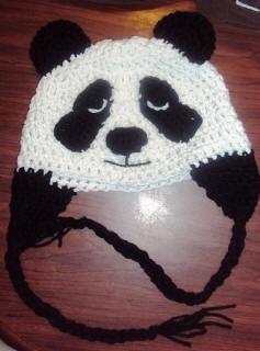 crochet panda hat Crochet Beanie Weenies Pinterest ...