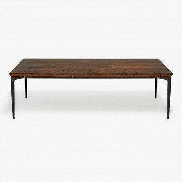 Core Dark Oak Coffee Table Brass Inlay