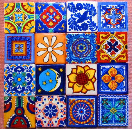 16 pcs Mexican Tile Talavera Handmade by Begamexicansupplies, $14.24