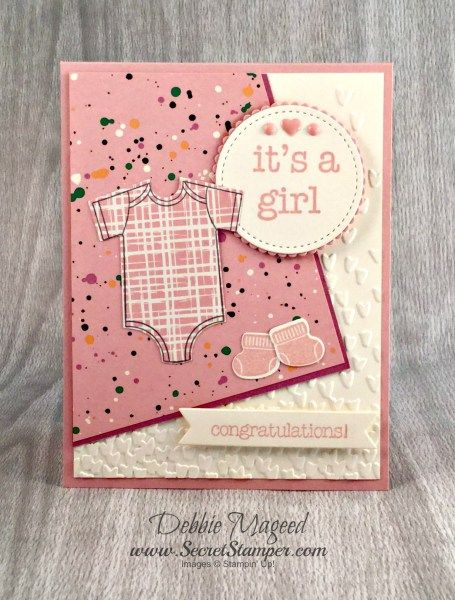 Stamp Sets: Made with Love, Something for Baby, Baby Prints Paper: Playful Palette DSP Stack, Blushing Bride, Sweet Sugarplum, Very Vanilla Ink: Blushing Bride, Memento Black