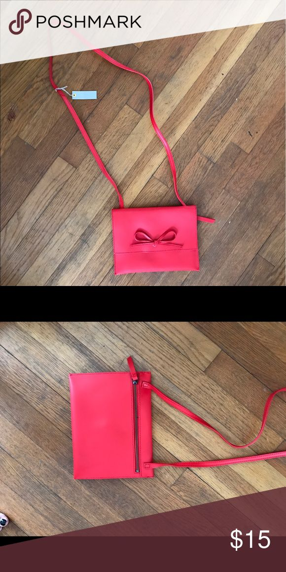 Gap purse NWT Faux red leather purse with strap. 7x9 GAP Bags Shoulder Bags