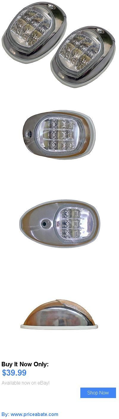 boat parts: 12V Side Lights (Pair Set) - S.S. Led Navigation Lights For Boat - Five Oceans BUY IT NOW ONLY: $39.99 #priceabateboatparts OR #priceabate