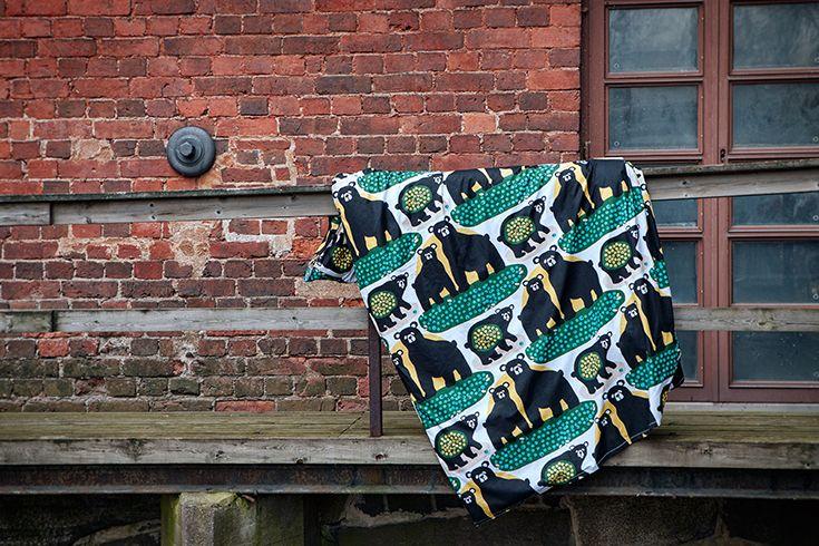 Otso duvet cover set in green || Vihreä Otso-pussilakanasetti