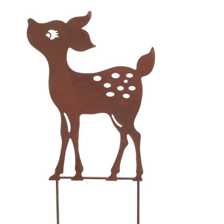 metall gartenstecker weihnachten reh rehkitz bambi kitz. Black Bedroom Furniture Sets. Home Design Ideas
