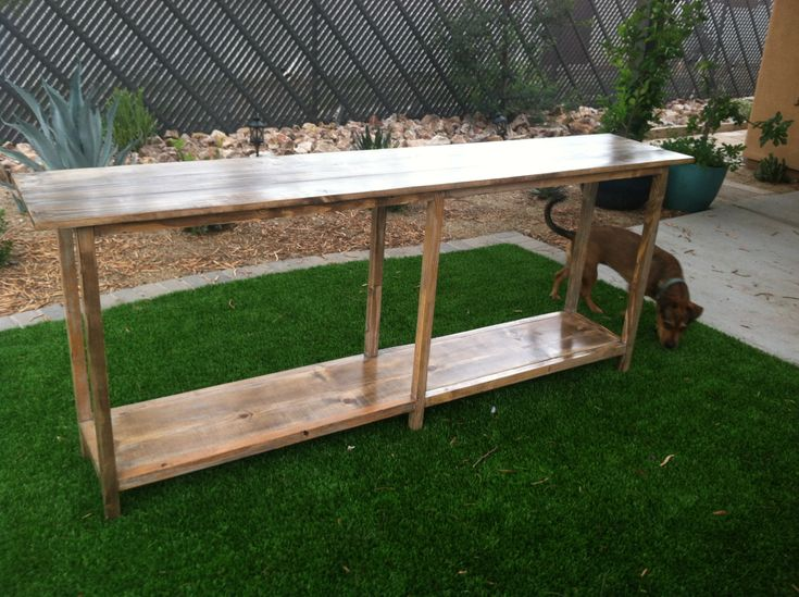 Ana White | Rustic Sofa Table - DIY Projects