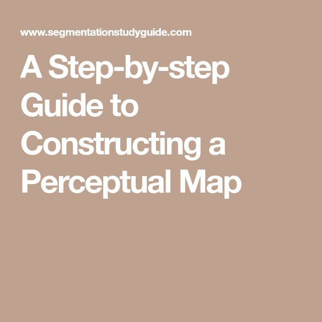 A Step-by-step Guide to Constructing a Perceptual Map