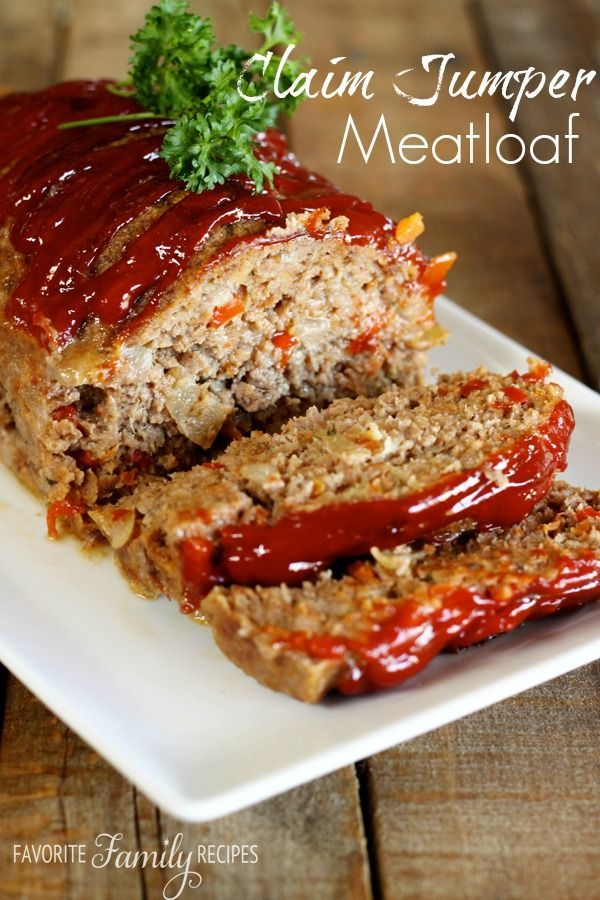 My very favorite Meatloaf recipe! Perfect for Sunday dinner! . I found ...