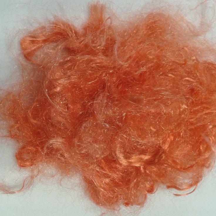 Firestar fibre hand dyed Orange 20 grams .70 oz spinning felting fibre needle felting 11223 by feltfibrecraft on Etsy