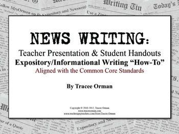 Journalism news writing activities