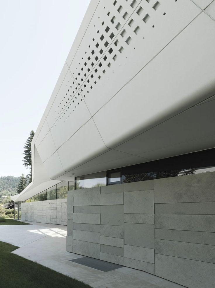 Concrete cladding / metal / smooth / panel - FIBREC POLAR WHITE - Rieder Smart Elements GmbH