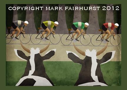 Les Vaches du Tour by Mark Fairhurst