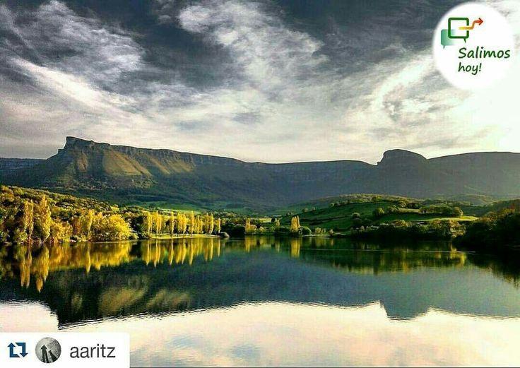 #salimoshoy  Fotografía original de @aaritz  ・・・ Presa de Maroño/Maroñoko urtegia  #maroño  https://www.instagram.com/salimoshoy/