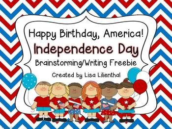 FREEBIE! Students will use the graphic organizers in this cute 4th of July pack to brainstorm ways they celebrate Independence Day. Then they can write a narrative on the pages provided.