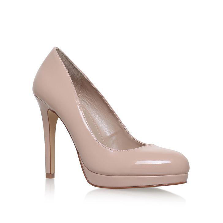 Kandy Nude Mid Heel Court Shoes By Carvela Kurt Geiger   Kurt Geiger