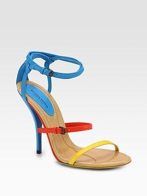 Bottega Veneta - Leather Colorblock Sandals - Saks.comPrimary Colors, Leather Colorblock, Strappy Sandals, Bottega Veneta, Colors Blue, Colors Block, Veneta Leather, Bright Colors, Colorblock Sandals