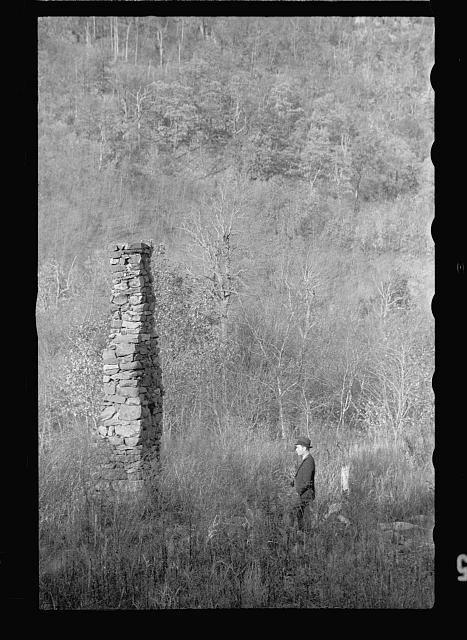 Corbin Hollow ruins, 1937.: