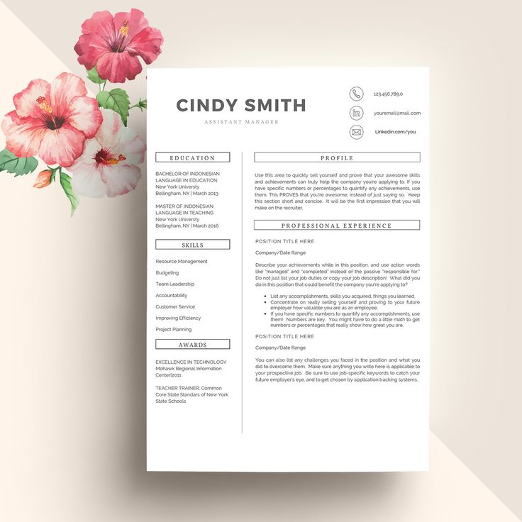 Best 25+ Teacher resume template ideas on Pinterest Resumes for - modern resume templates word