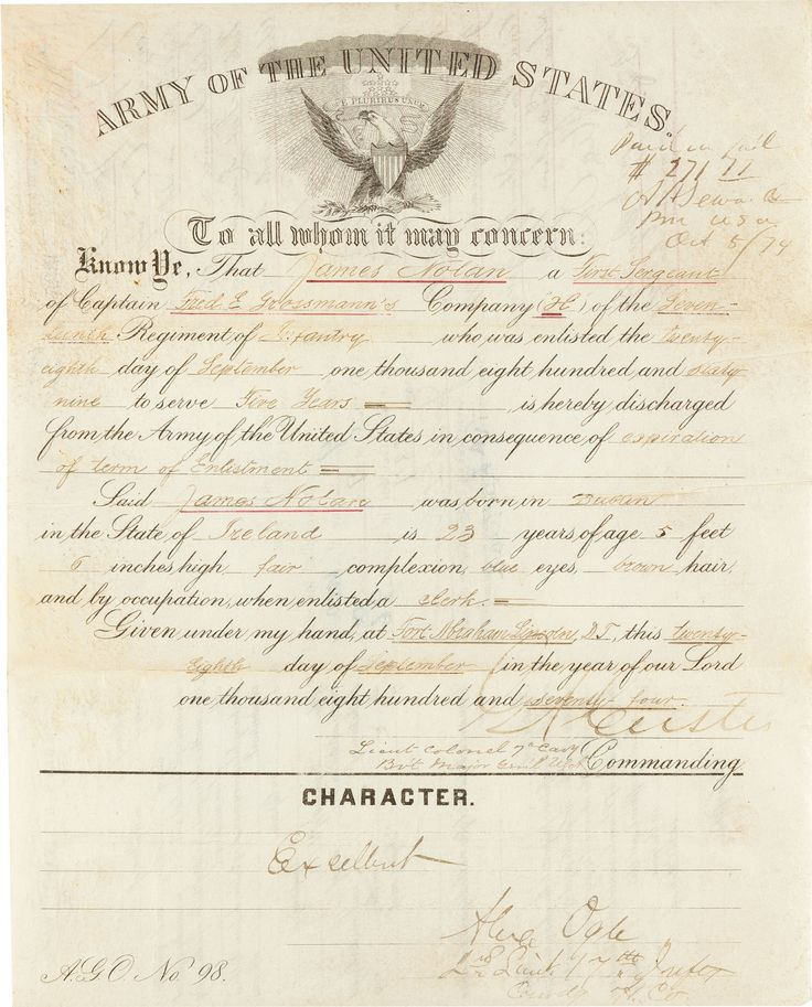 Honorable Discharge Certificate Image Collections Certificate