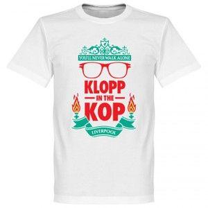 RE-TAKEリバプールKLOPPintheKOPTシャツ(ホワイト)【サッカーサポーターグッズTシャツ】