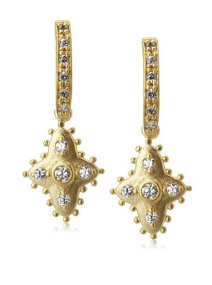 68% OFF Belargo Diamond-Shaped Drop Earrings