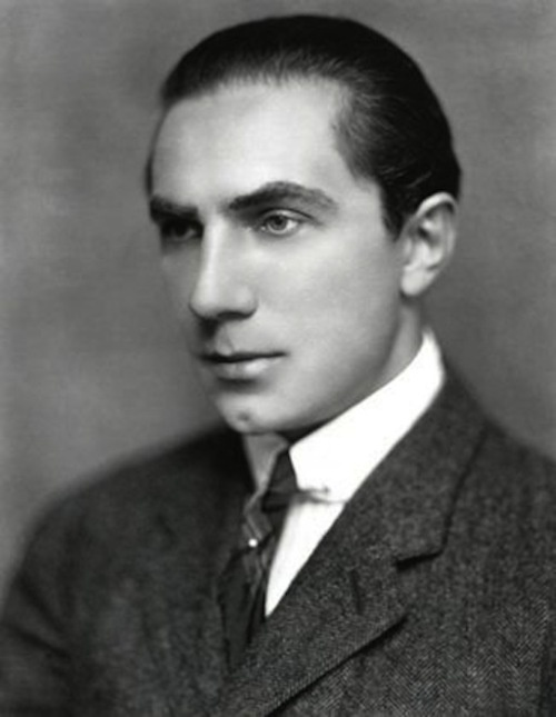 Bela Lugosi, born in 1886. I'm guessing, based on his tie clip and his face, that this was taken sometime in the 1910s