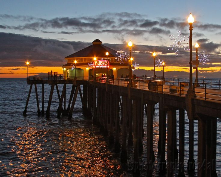 california christmas pictures | The shot below is from the pier looking east toward Pacific Coast ...