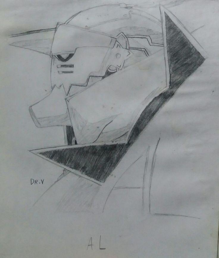 Dibujo antiguo: Alphonse Elric.