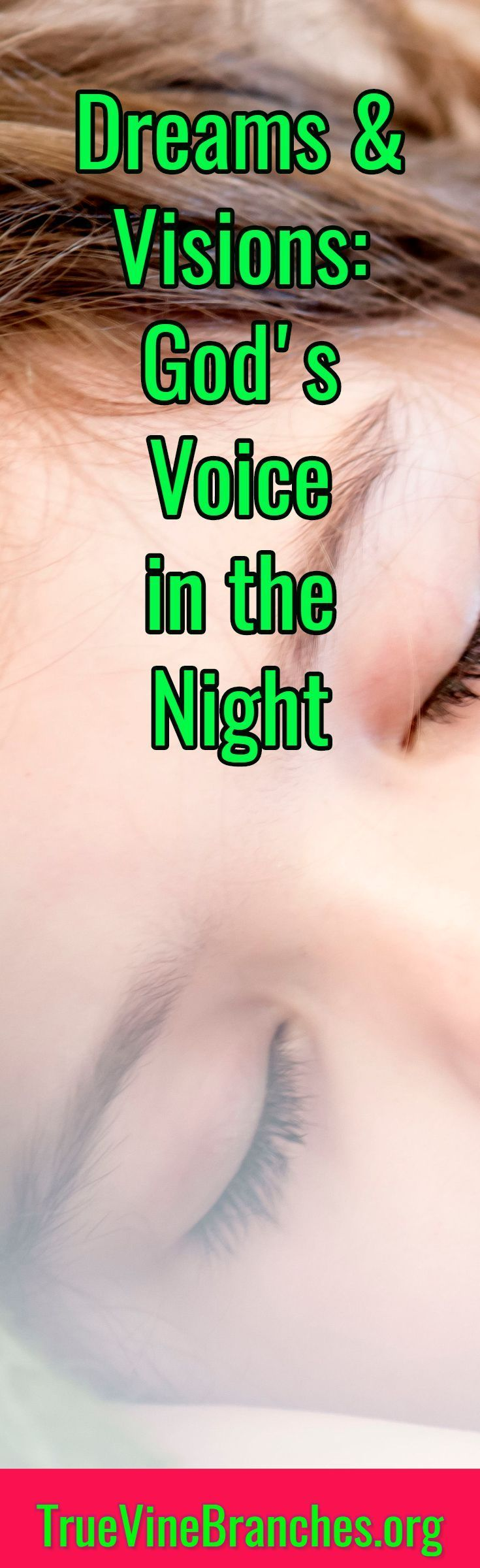 Learn about dreams and visions in the day as well as the night. Hearing God's voice, biblical dream interpretation, faith, encouragement, inspiration, love, hope.