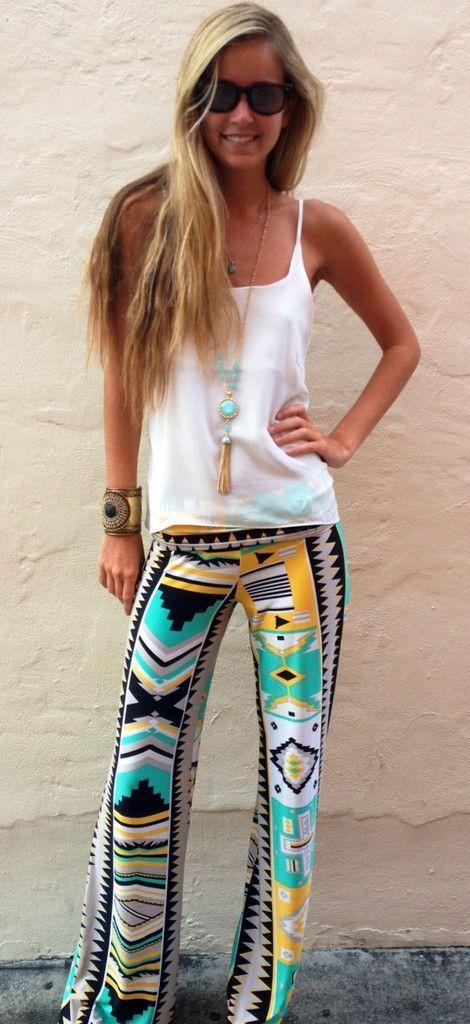 patterned geometric pants!