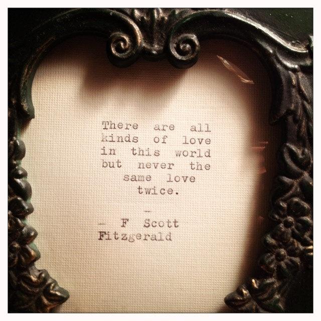 F Scott Fitzgerald Framed Love Quote
