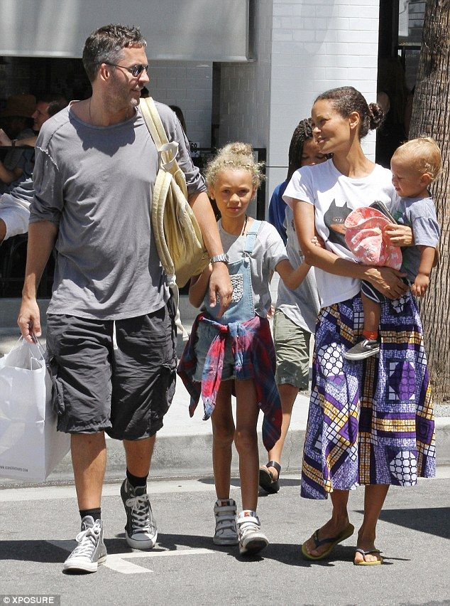 Family day: Thandie Newton`s family